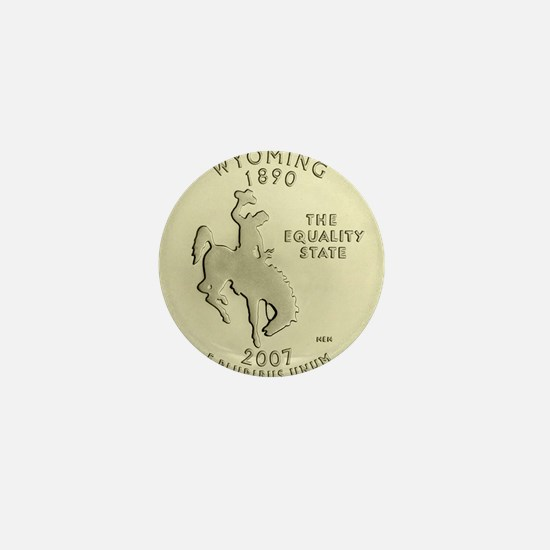 Wyoming Quarter 2007 Basic Mini Button (100 pack)