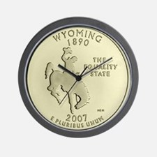 Wyoming Quarter 2007 Basic Wall Clock