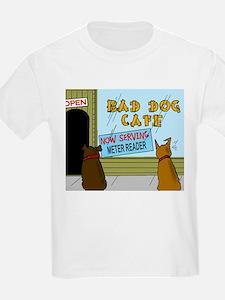 Menu at the Bad Dog Cafe Cartoon T-Shirt