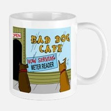 Menu at the Bad Dog Cafe Cartoon Mug