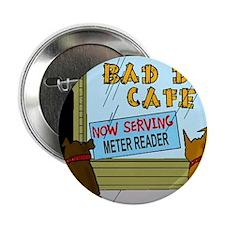 """Menu at the Bad Dog Cafe Cartoon 2.25"""" Button"""