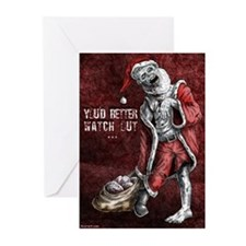 Zombie Santa - Christmas cards (Pk of 10)