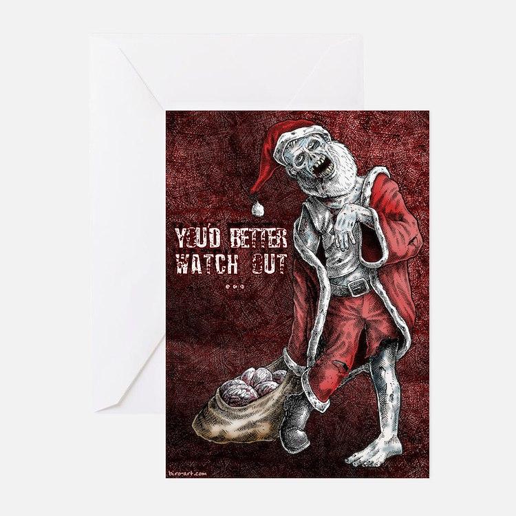 Zombie Santa - Christmas cards (Pk of 10)