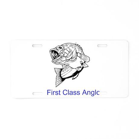 First Class Angler Aluminum License Plate