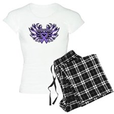 Hodgkins Lymphoma Heart Wings pajamas