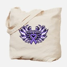 Hodgkins Lymphoma Heart Wings Tote Bag