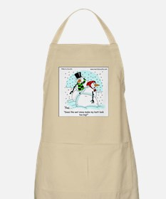 Snow woman's butt too big? Apron