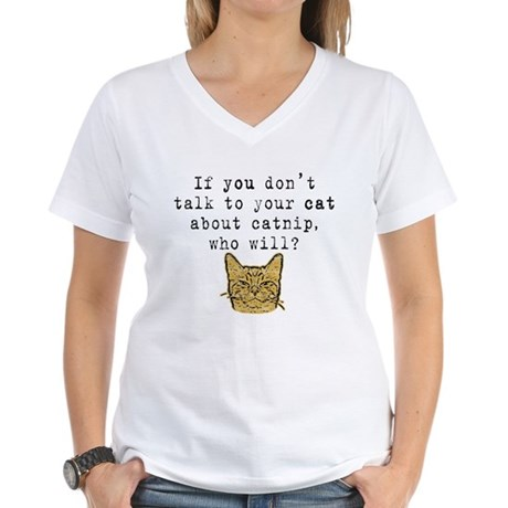 Talk to your cat about catnip2 Ash Grey T-Shirt T-