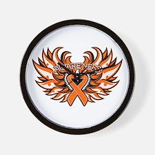 Leukemia Heart Wings Wall Clock