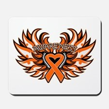 Leukemia Heart Wings Mousepad