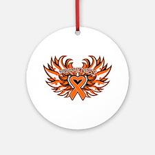 Leukemia Heart Wings Ornament (Round)