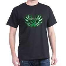 Liver Cancer Heart Wings T-Shirt