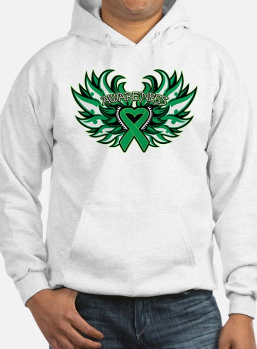Liver Cancer Heart Wings Hoodie