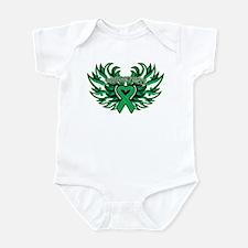 Liver Cancer Heart Wings Infant Bodysuit