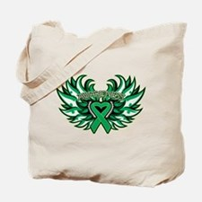 Liver Cancer Heart Wings Tote Bag