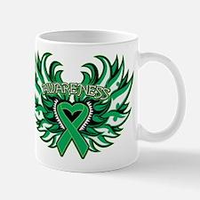 Liver Cancer Heart Wings Mug