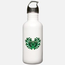 Liver Cancer Heart Wings Water Bottle