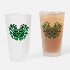 Liver Cancer Heart Wings Drinking Glass
