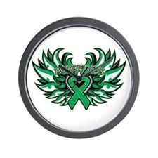 Liver Cancer Heart Wings Wall Clock