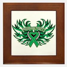 Liver Cancer Heart Wings Framed Tile