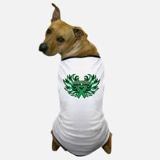 Liver Cancer Heart Wings Dog T-Shirt