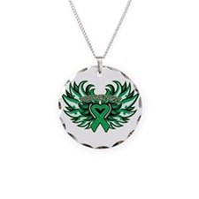 Liver Cancer Heart Wings Necklace