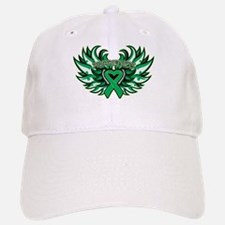 Liver Cancer Heart Wings Baseball Baseball Cap