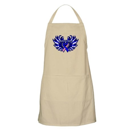 Male Breast Cancer Heart Wings Apron