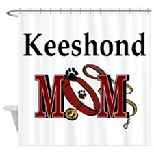 Keeshond Mom Shower Curtain