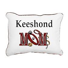Keeshond Mom Rectangular Canvas Pillow