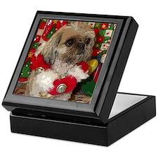Shih Tzu Dog Pop Art Christmas Sandy Keepsake Box