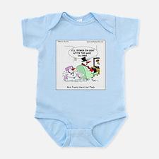 Mrs. Frosty has a hot flash Infant Bodysuit