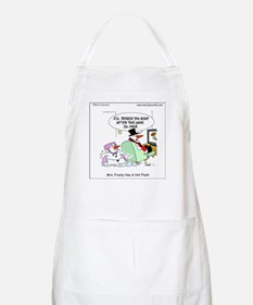Mrs. Frosty has a hot flash Apron