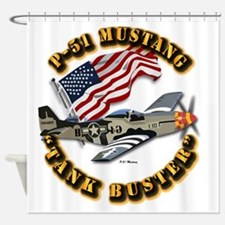 Aircraft - P51 Mustang Shower Curtain