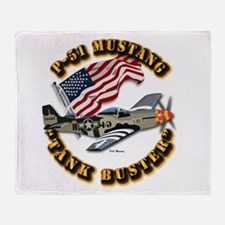 Aircraft - P51 Mustang Throw Blanket