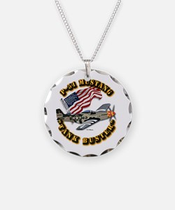 Aircraft - P51 Mustang Necklace