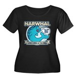 Narwhal Women's Plus Size Scoop Neck Dark T-Shirt