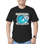 Narwhal Men's Fitted T-Shirt (dark)