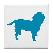 Blue Affen Tile Coaster