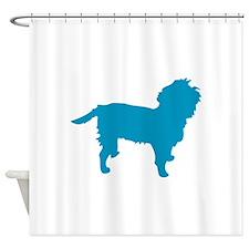 Blue Affen Shower Curtain