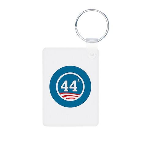 44 Squared Obama Aluminum Photo Keychain
