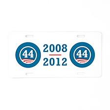 44 Squared Obama Aluminum License Plate