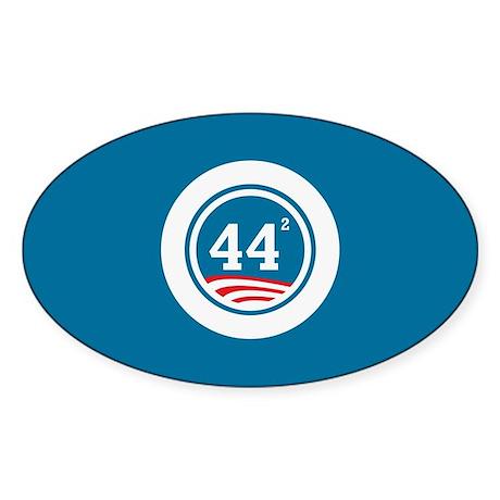44 Squared Obama Sticker (Oval)