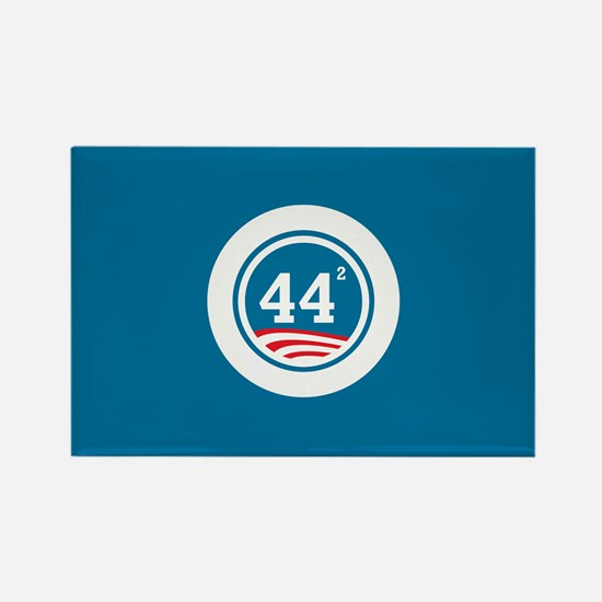 44 Squared Obama Rectangle Magnet