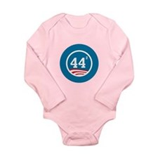 44 Squared Obama Long Sleeve Infant Bodysuit