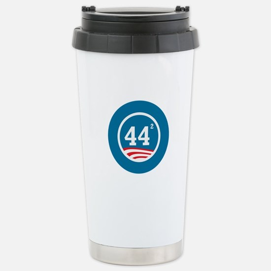 44 Squared Obama Stainless Steel Travel Mug