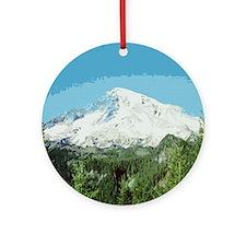 Mt. Rainier #2 Ornament (Round)
