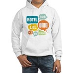 Text Shortcuts Hooded Sweatshirt