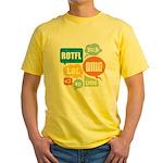 Text Shortcuts Yellow T-Shirt