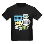 Text Shortcuts Kids Dark T-Shirt